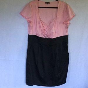 TRIXXI PINK & BLACK DRESS SIZE 18